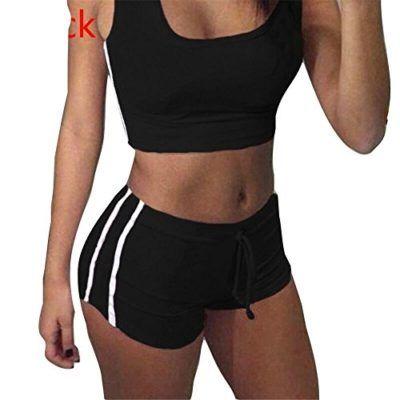 Chandal Conjunto para Mujer Moda Verano Primavera Casual Conjuntos  Deportivos Sin Manga Camisas Tops + Shorts 94f190377e87