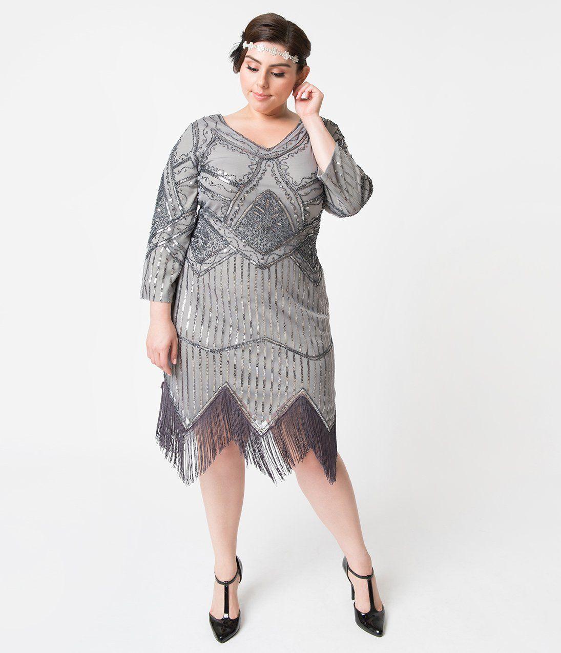 1920s Plus Size Flapper Dresses Gatsby Dresses Flapper Costumes Unique Vintage Plus Size 192 Plus Size Flapper Dress Plus Size Flapper Costume Unique Dresses [ 1275 x 1095 Pixel ]