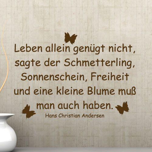 Der Schmetterling - Hans Christian Andersen | Sprüche ...