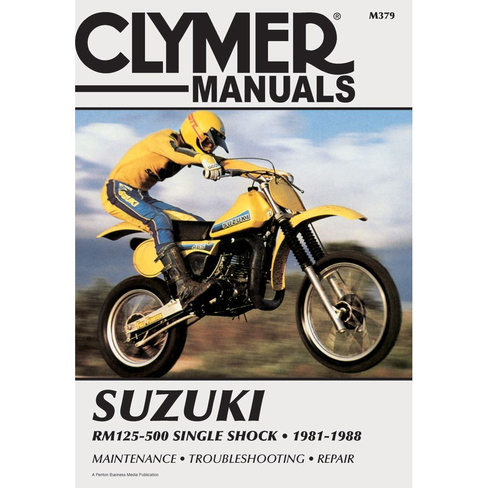 Clymer Suzuki Rm125 500 Single Shock 1981 1988 Sbs Products Outboard Motor Parts