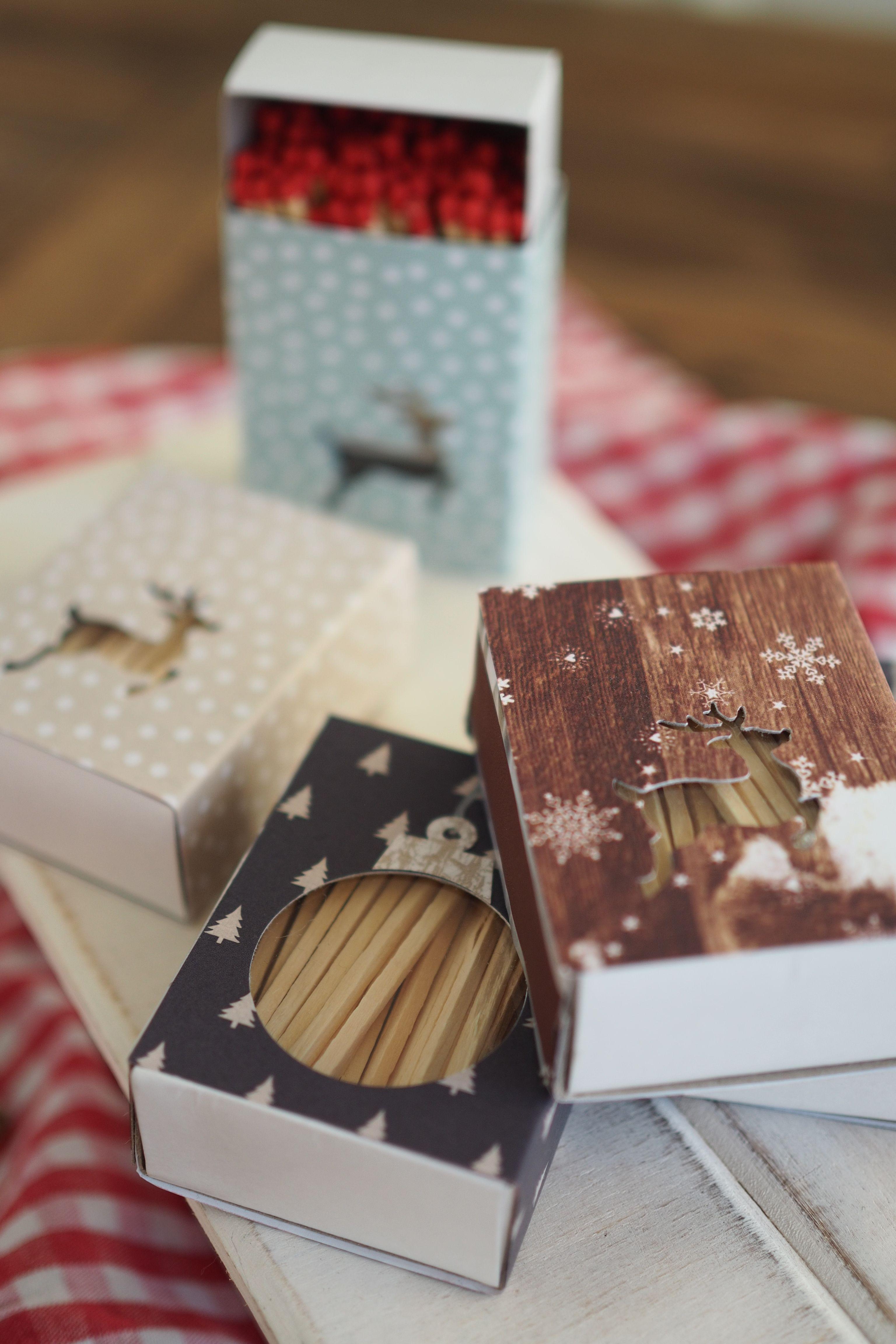DIY: weihnachtliche Streichholzschachteln