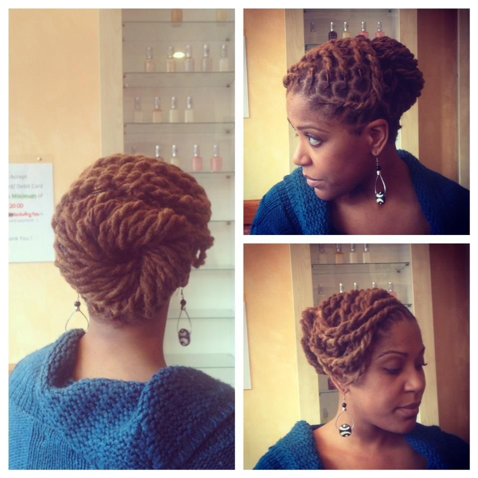 two strand twists and a cute pin-up. #locs #dreads