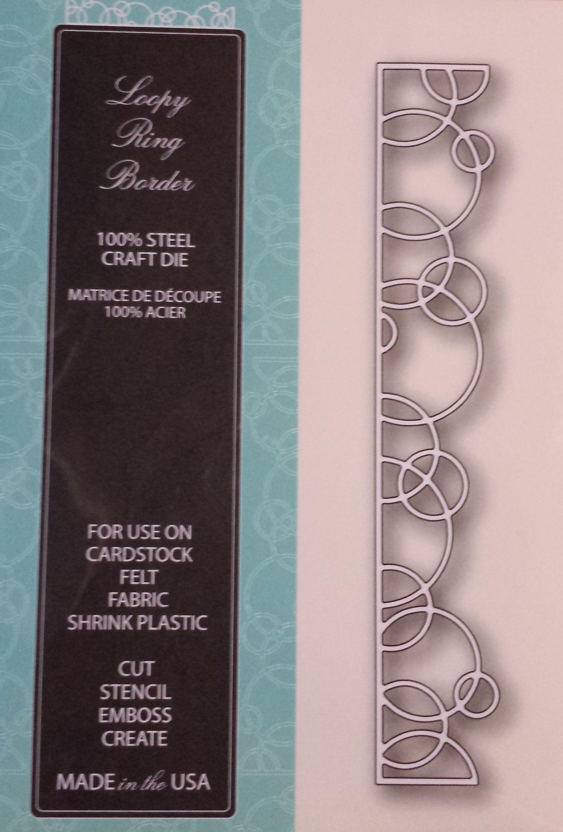 98983 Memory Box 100% Steel Craft Die Loopy Ring Border | Трафареты ...