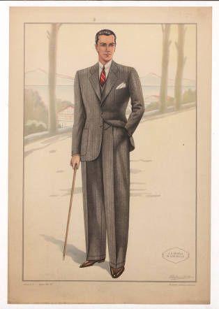 Menswear 1930s Italian Plate 007 Costume Institute Fashion