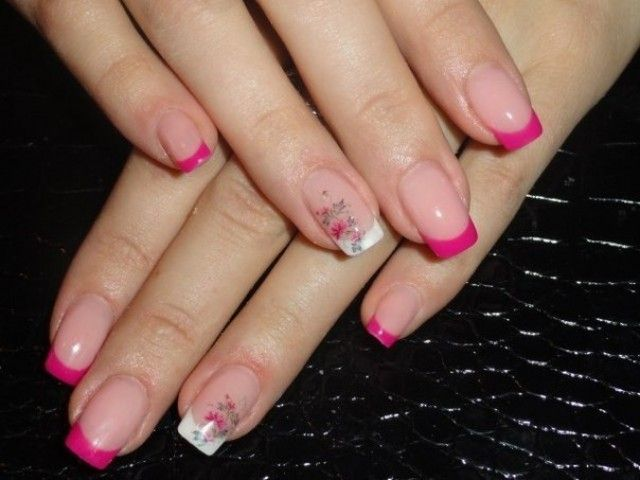 marinozka geln gel french weiss mit pink nageldesign bilder by world nails nailart galerie. Black Bedroom Furniture Sets. Home Design Ideas