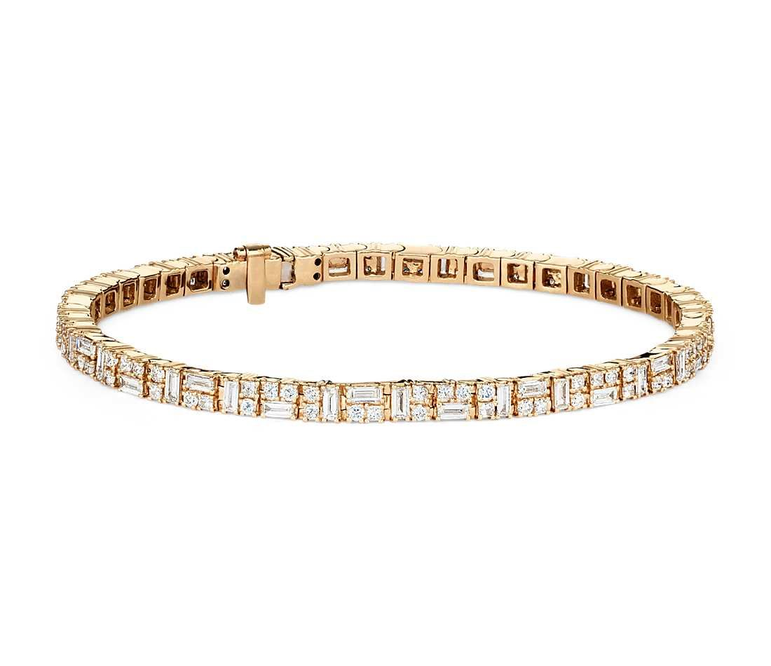 Diamond Tennis Bracelet In 18k Yellow Gold Your Chance To Win A 1000 Gift Card From Bluenile Tennis Bracelet Diamond Diamond Bracelet 14k Gold Bangles