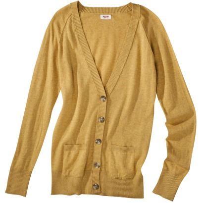 Mossimo Supply Co. Juniors Long Sleeve V Neck Boyfriend Cardigan ...