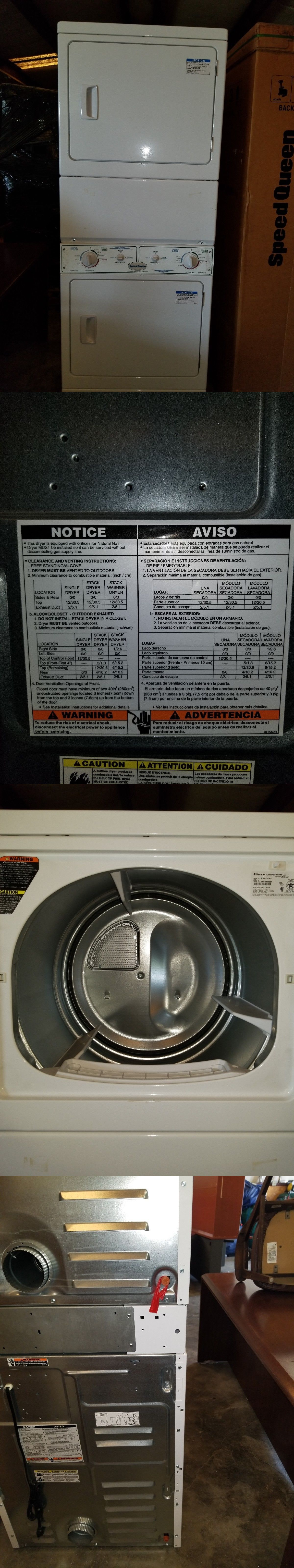 Washing Machines 71256 New Speed Queen Double Stack Dryers