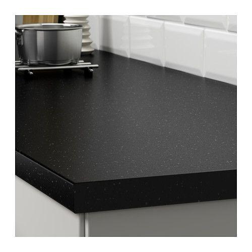 Saljan Plan De Travail Noir Motif Mineral Stratifie 186x3 8 Cm Plan De Travail Comptoir Stratifie Style Cuisine
