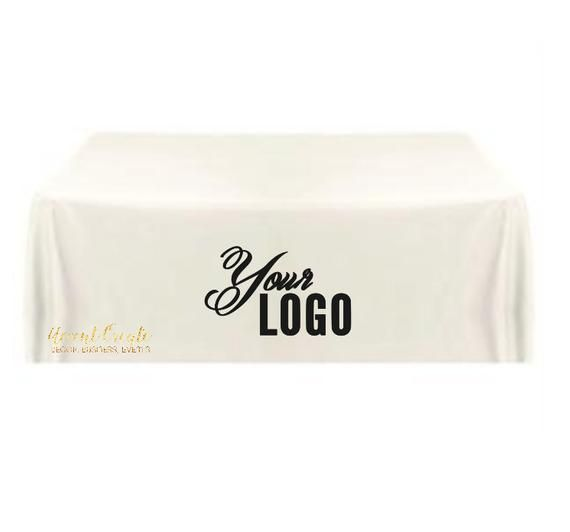 Enjoyable 6Ft Tablecloth Logo Personalized Table Cloth Vendor Event Home Remodeling Inspirations Cosmcuboardxyz