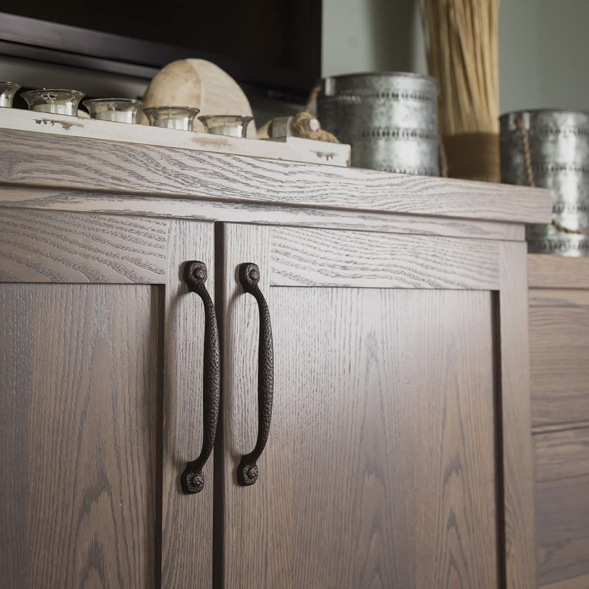 Hickory Hardware P3001 Bi 3 Inch Refined Rustic Pull Black Iron Cabinet And Furniture Pulls Amaz Hickory Hardware Rustic Cabinet Hardware Cabinet Hardware