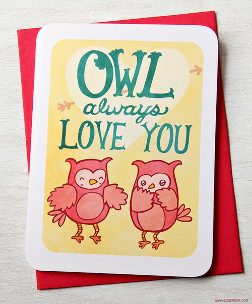 my owl barn quirky valentine's day cards  quirky