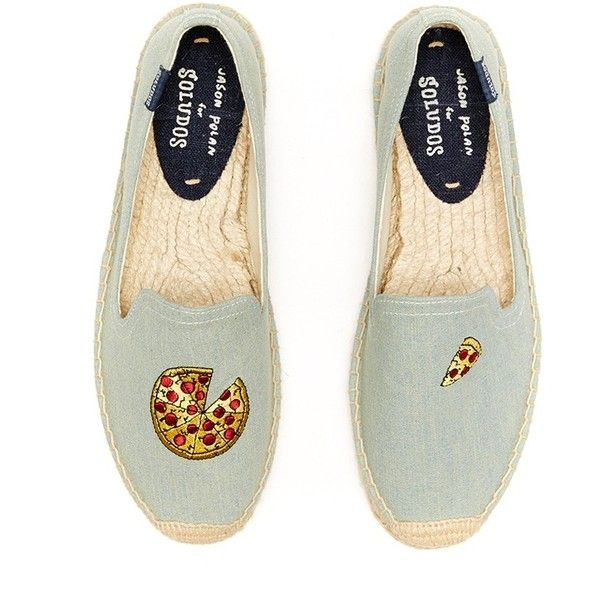 1c7dc5e6ac76 Soludos Smoking Slipper Espadrille Pizza Chambray (men) (€88) ❤ liked on Polyvore  featuring men s fashion