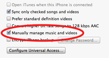 Manually Manage Music And Video In Summary How To Create A Free Iphone Ringtone Using Itunes Iphone Ringtone Iphone Iphone Info