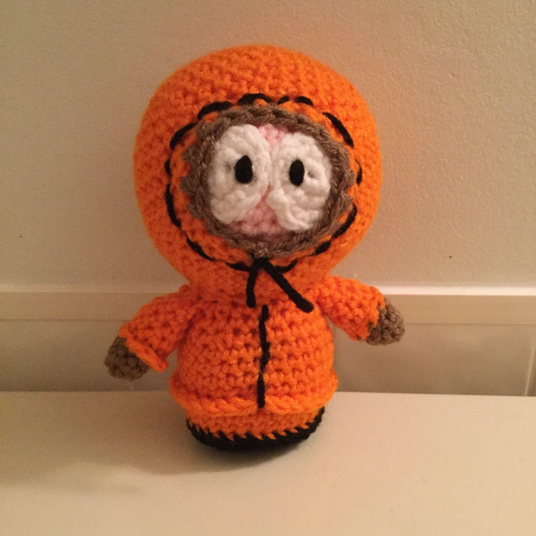 Made to Order: Crochet Amigurumi Little Boy in Orange Parka Doll