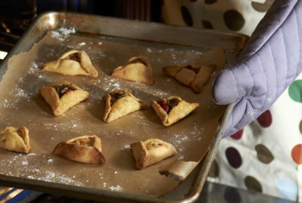 Hamantaschen with a twist!! Pear & goat cheese filling