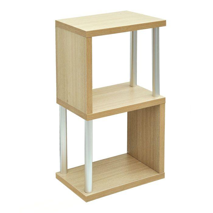 "Madison Oak ""S"" Shape Small Storage Unit | Small space ..."