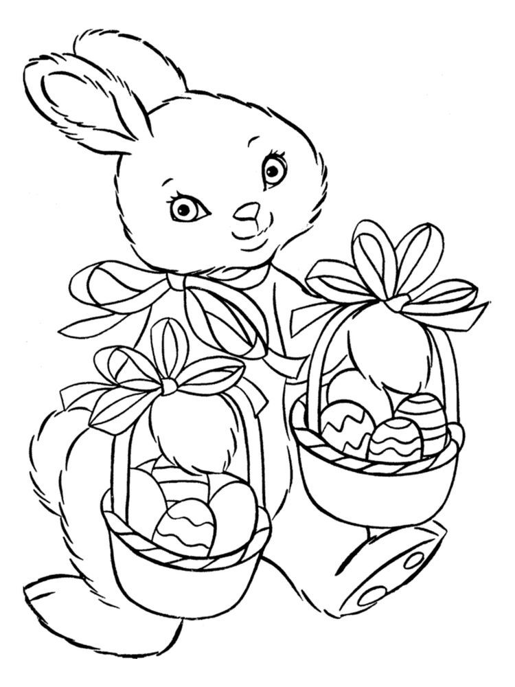 Easter Basket Coloring Pages To Print Easter Is A Fun Time For Children Easter Celebratio Bunny Coloring Pages Easter Coloring Pages Valentine Coloring Pages