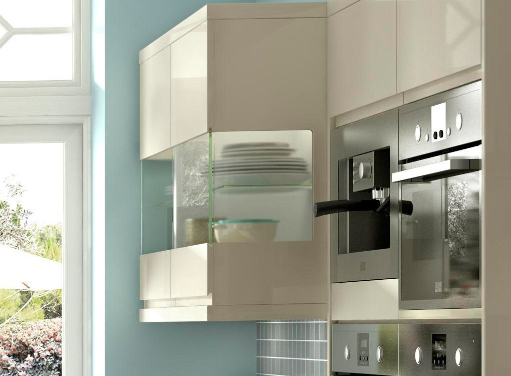 cooke & lewis high gloss cream kitchen | Contemporary Kitchens ...