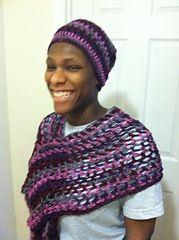 Ravelry: Chain One Shawlette pattern by Leslie Ginyard
