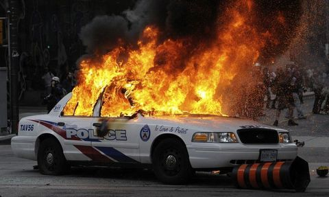 Burning cop car | Police, Police cars, Anarchist