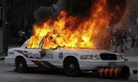 Burning cop car | Police, Police cars, Anarchist