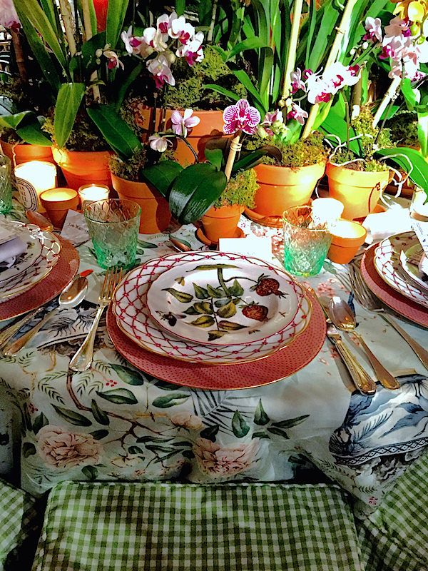 Amazing tablesettings at The Annual Orchid Dinner 2016. Danielle Rollins