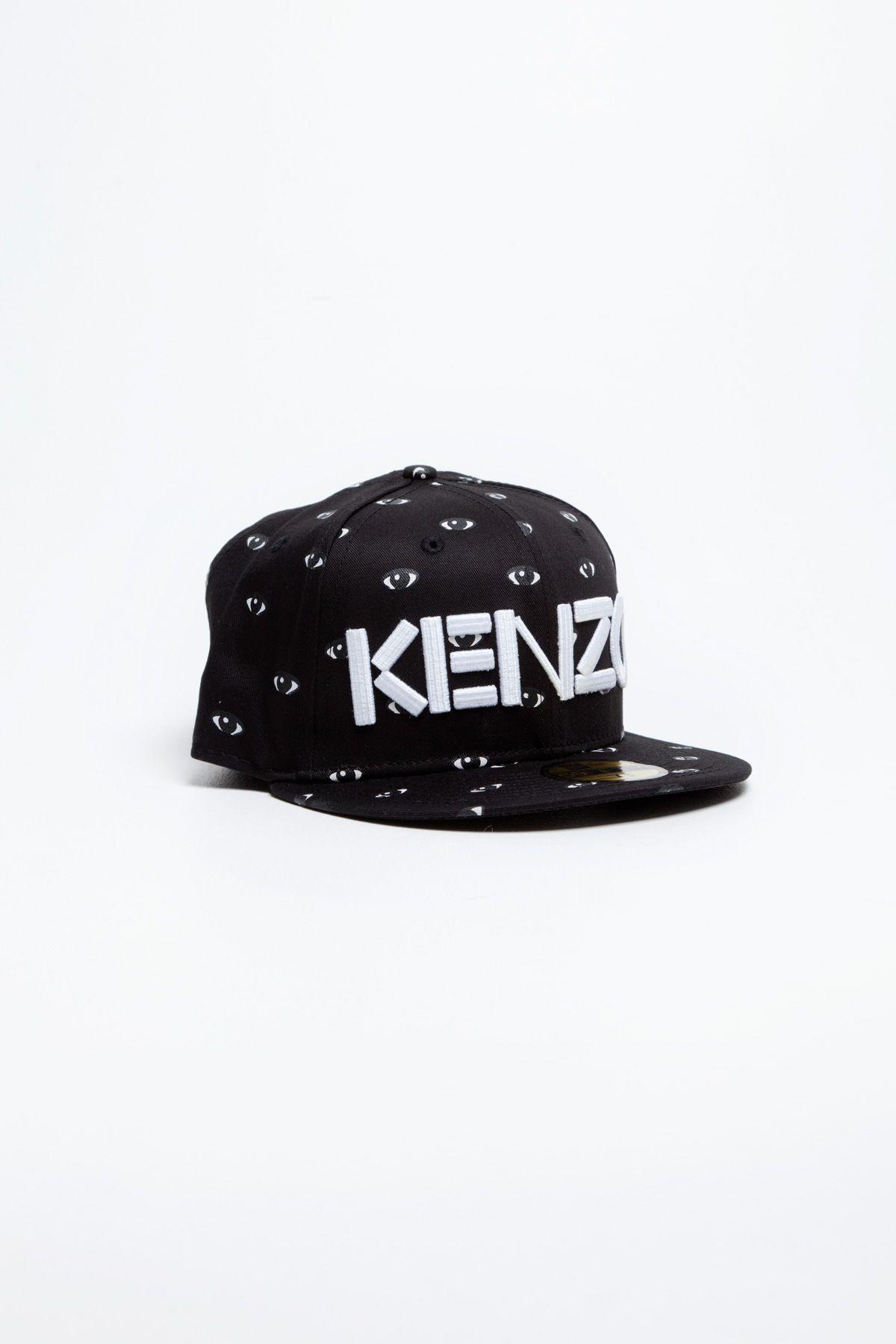 Kenzo - New Era Cap All Over Eyes Black  2e83bc5b491