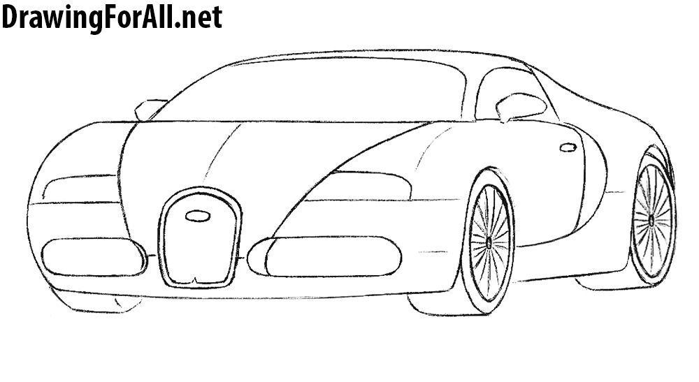 How To Draw A Bugatti Veyron Bugatti Drawings Motorcycle Drawing
