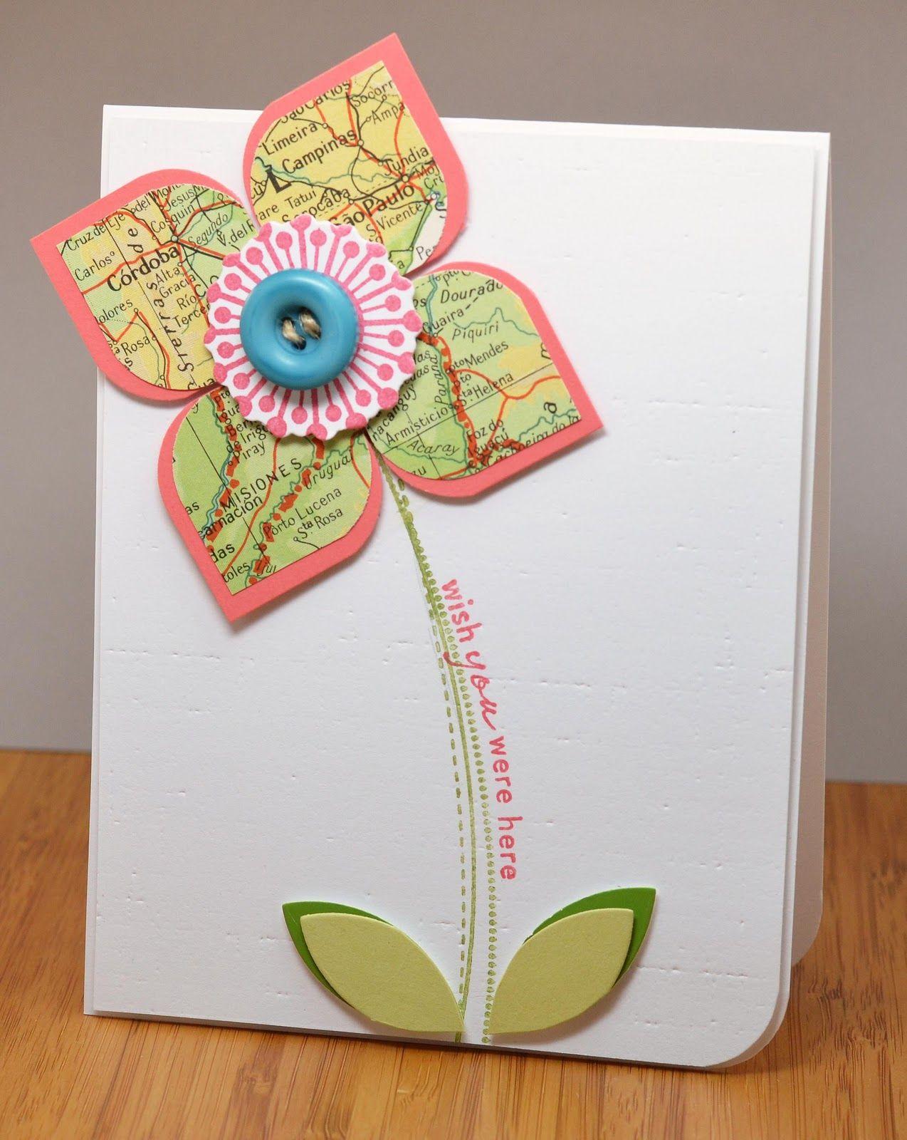 Лет свадьбы, самодельная открытка цветы