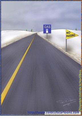 ColdCuts Cartoons Traffic Signs No Passing Gas