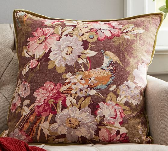 Olivia Floral Pillow Cover | Pottery Barn