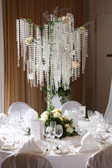 White Wedding Inspiration | Crystal Tree