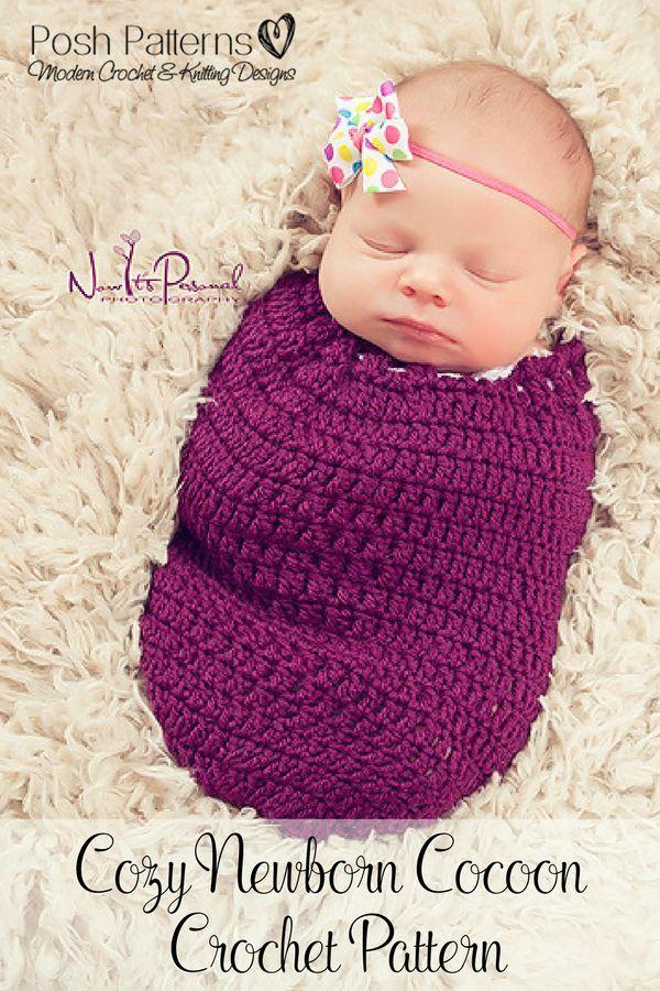 Crochet Pattern Crochet Tutorial Crochet Cocoon Pattern Baby