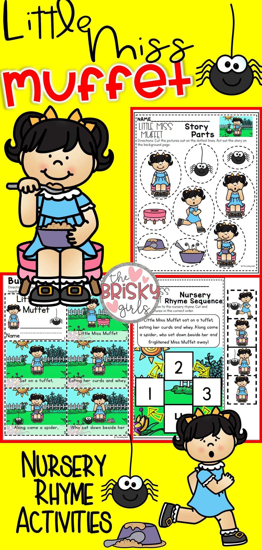 Nursery Rhymes Preschool Little Miss Muffet Nursery Rhyme