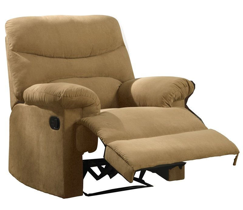 Transitional style, Hand latch recliner, Tight seat and back cushion ...