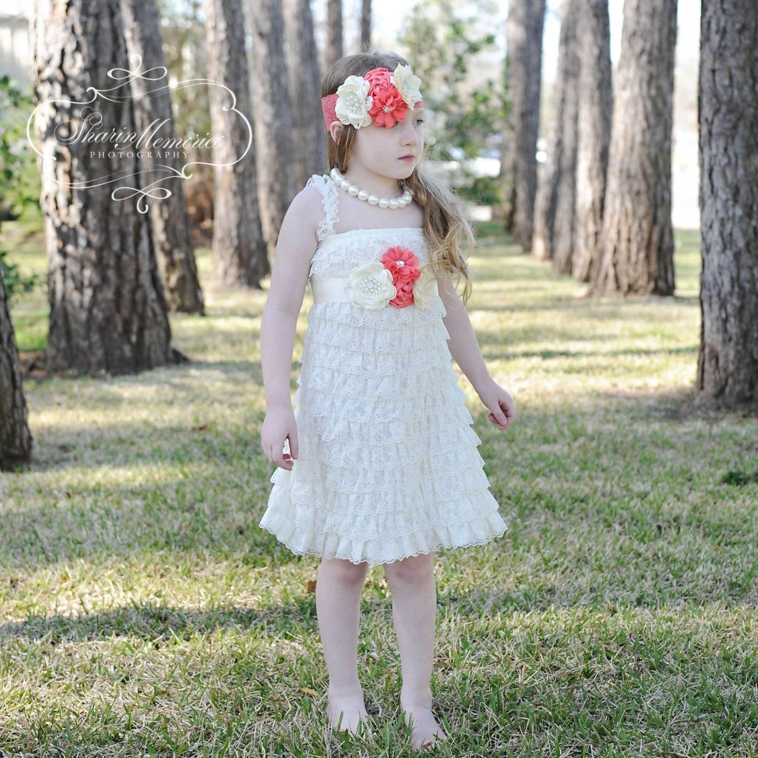 Lace dress for baby girl  Ivory Lace Dress Baby RomperBaby Girl RomperGirl Lace RomperLace