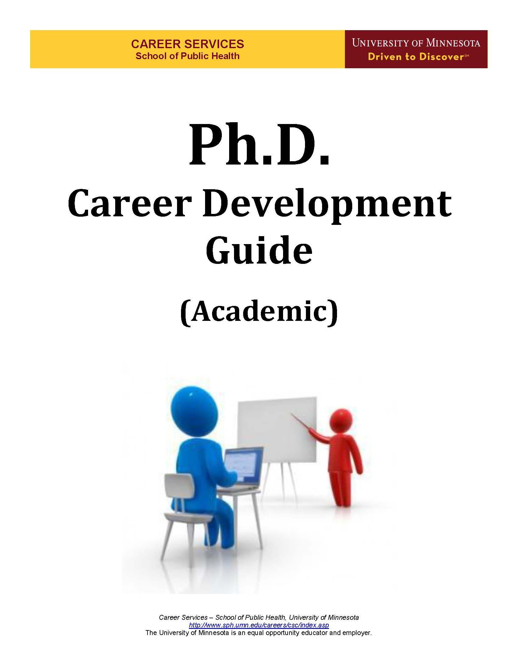 Cover Page Career development, University of minnesota, Phd