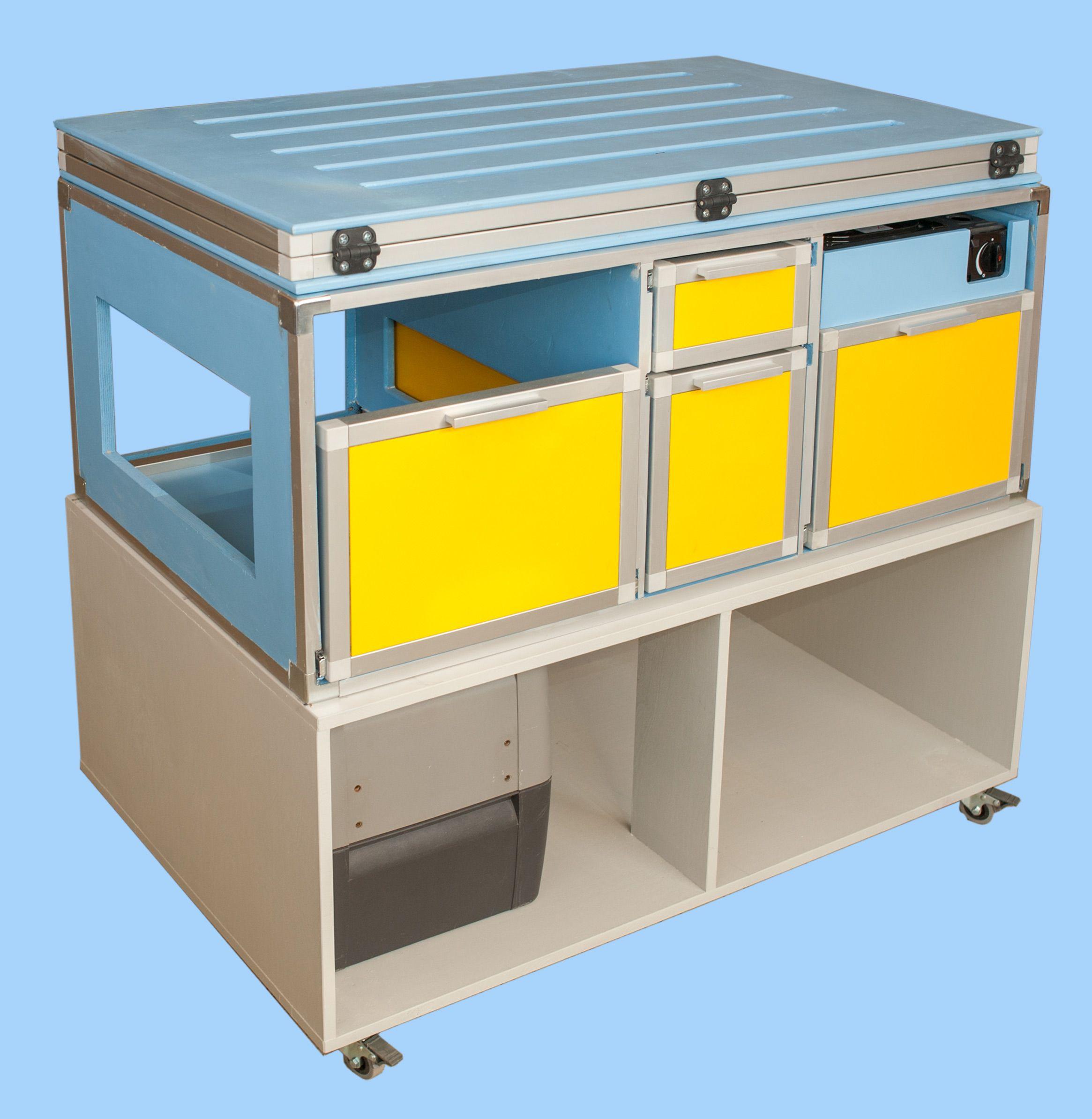 camping module f r minivan und hochdachkombi smart camper. Black Bedroom Furniture Sets. Home Design Ideas