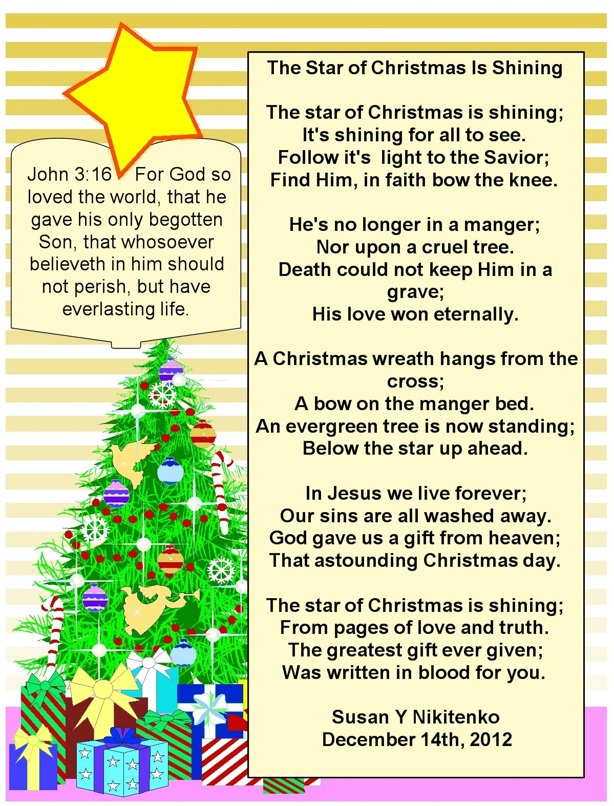 Inspirational Christian Christmas Poems | Christmas Poems ...