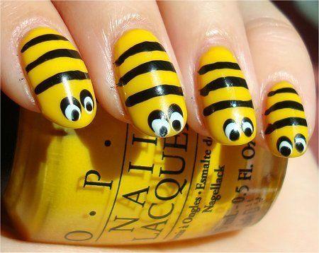 Bee Nails - Bee Nails Nails Pinterest Bees, Fun Nails And Bumble Bee Nails
