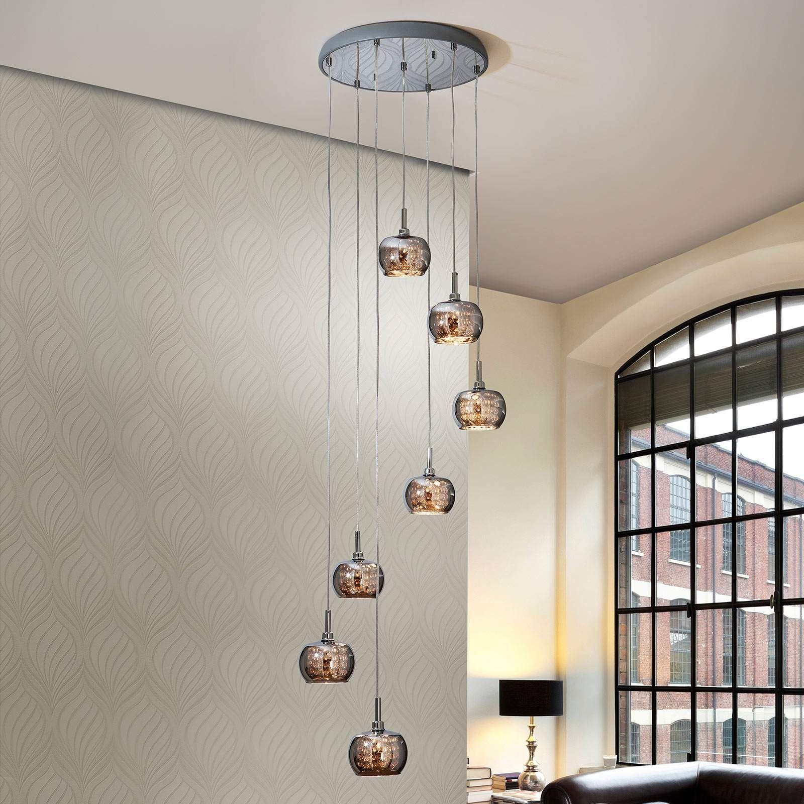 Led Hangelampe Arian Mit Kristallen Siebenflammig Led Hangelampen Led Und Hange Lampe