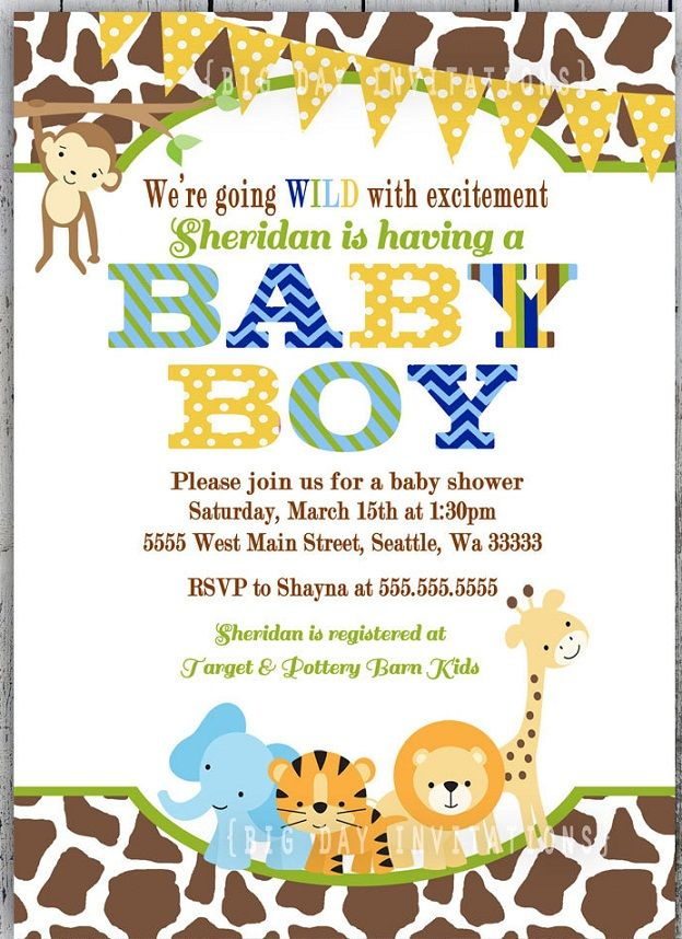 Its A Wild Time With A Boys Safari Baby Shower Safari Jungle