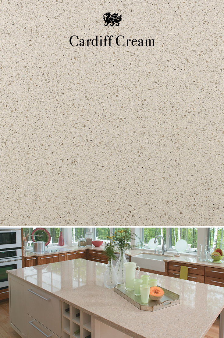 Like A White Sand Beach Speckled With Pebbles Our Cardiff Cream Design Adds Traditional And Sophisticated Element To Your Next Countertop Mycambria