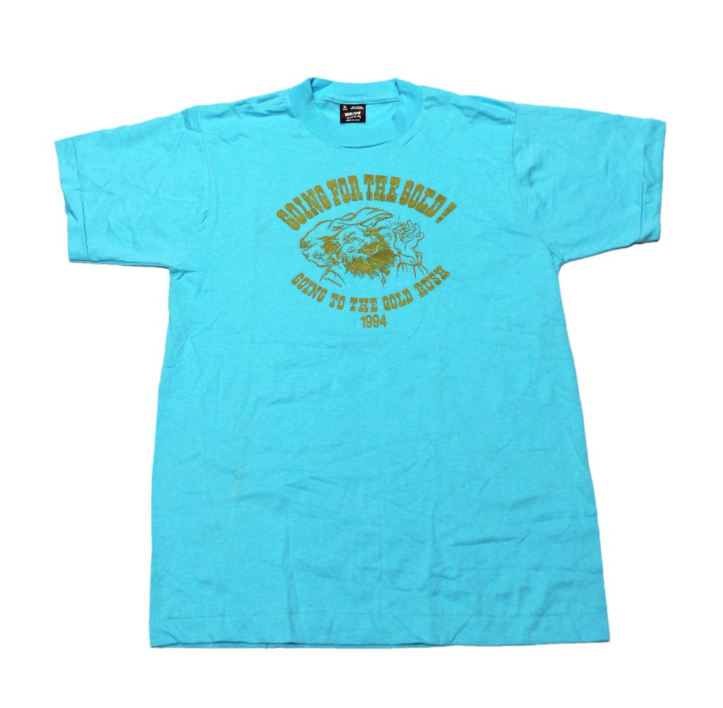 """Vintage 1994 """"Going for The Gold"""" Gold Rush Shirt Mens Size Medium (Slim Fit) $25.00"""
