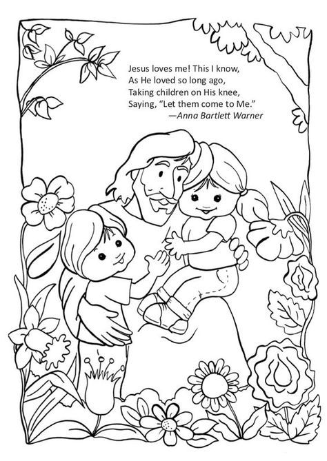 Let The Children Come To Me Sunday School Coloring Pages