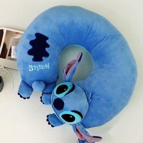 BNWT Soft Stitch Plush Travel U shaped Neck Pillow Car Cushion Toy Lilo&Stitch