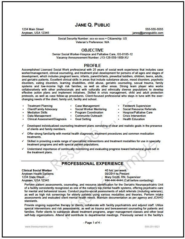 Sample Social Worker Resume Federal Social Worker Resume Writer Sample  Resume Examples .