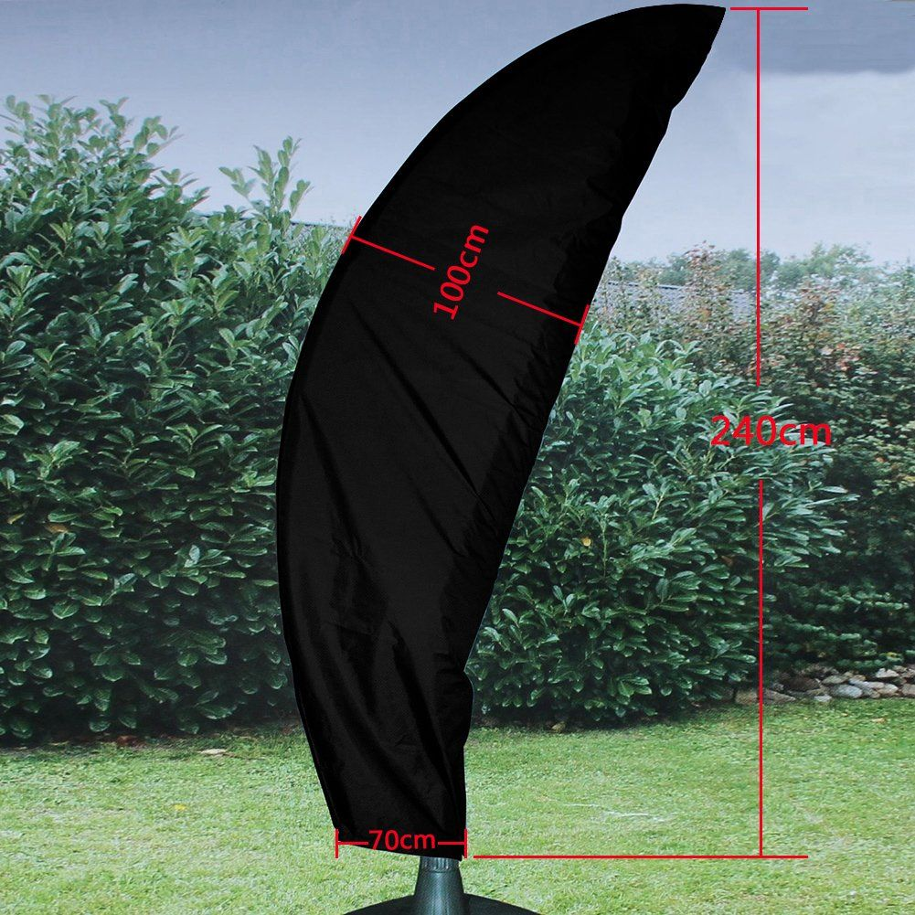 About2shop Waterproof Patio Umbrella Cover Outdoor AllWeather Protective  Cantilever Cover Black    Read More Reviews Of The Product By Visiting The  Link On ...