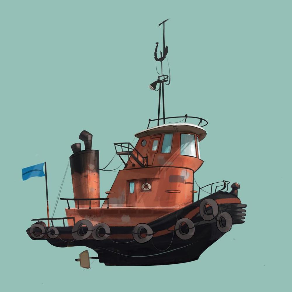 Tug By Andybarry On Deviantart Boat Cartoon Tug Boats Boat